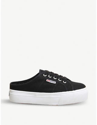 Superga 2284 canvas mule trainers