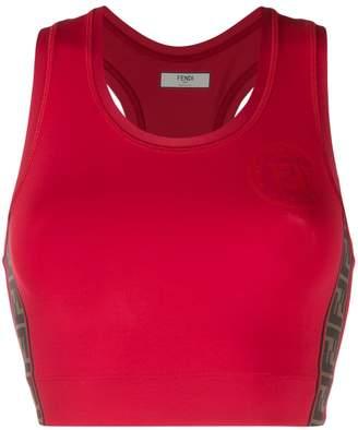 Fendi FF cropped vest top
