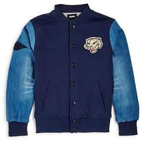 True Religion Boys' Tiger Appliqué Knit Baseball Jacket - Big Kid