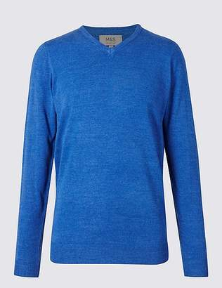 "Marks and Spencer Cashmilonâ""¢ V-Neck Jumper"