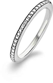 Ti Sento Milano Rhodium Plated Sterling Silver Ring-1923SD/54 - Size N
