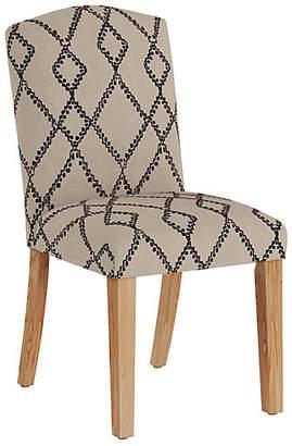 One Kings Lane Marie Side Chair - Black/Flax