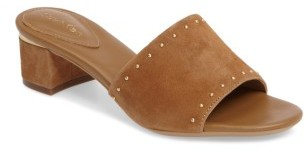 Women's Calvin Klein Dixie Studded Slide Sandal $99.95 thestylecure.com