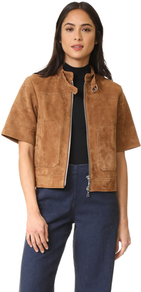 Theory Lavzine Short Sleeve Jacket $1,250 thestylecure.com