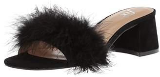 Amazon Brand - The Fix Women's Luisa Single Strap Feather Block Heel Mule