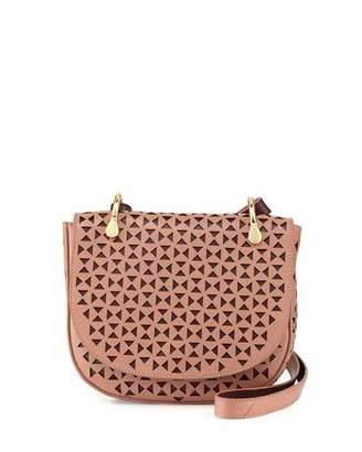 Elizabeth and James Zoe Perforated Leather Saddle Bag, Twig/Wine $445 thestylecure.com