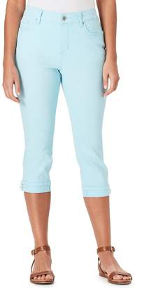 Bandolino Women's Mandie Lace-Up Capri Jeans