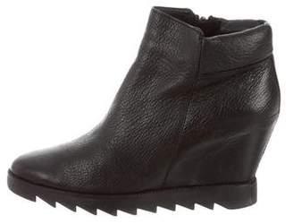 Ash Leather Platform Boots