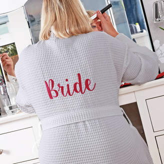 Duncan Stewart Personalised Bridal Waffle Dressing Gown