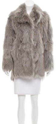Band of Outsiders Fox Fur Pea Coat $700 thestylecure.com