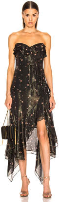 Jonathan Simkhai for FWRD Strapless Ruffle Dress in Star Print   FWRD