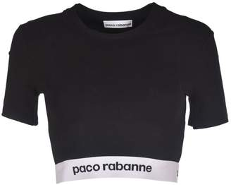 Paco Rabanne Logo Cropped Top
