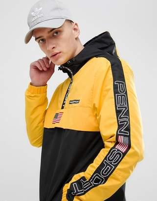 Penn Sport windbreaker hooded jacket in yellow
