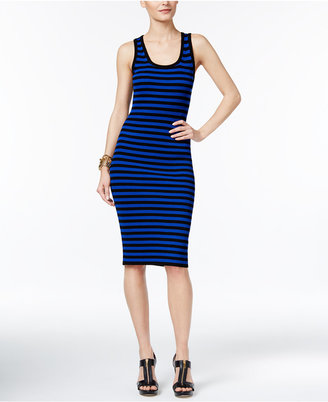 MICHAEL Michael Kors Ribbed Striped Bodycon Dress $140 thestylecure.com