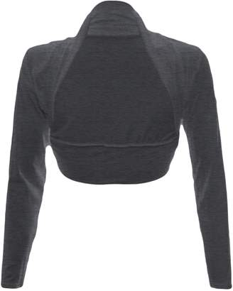 Fashion Wardrobe Womens Long Sleeve Boleros Shrugs Tops Ladies Casual Crop Cardigan Bolero Top ♥ (USA 6-8 / UK 6-10 (S/M), )