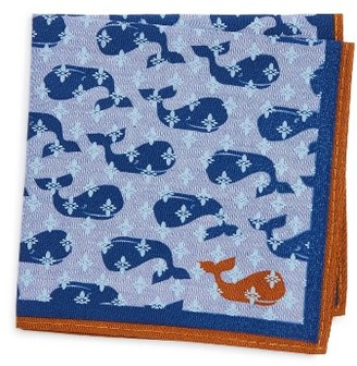Boy's Nordstrom Conversational Cotton Pocket Square $15 thestylecure.com