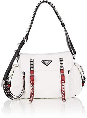 Prada Women's Leather-Trimmed Messenger Bag