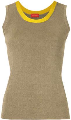 TOMORROWLAND contrast neckline knit vest