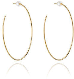 Vita Fede Sfera Pearl Stud Hoop Earrings