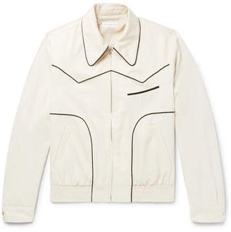 Dries Van Noten Piped Satin-Twill Bomber Jacket