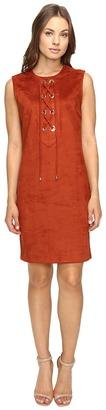 Christin Michaels Decatur Suede Dress $98 thestylecure.com