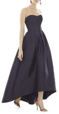 Alfred Sung Royal Strapless Twill Dress