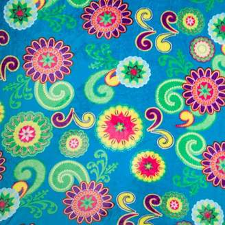 Darice Floral Print Ultra Plush Fleece Fabric Roll