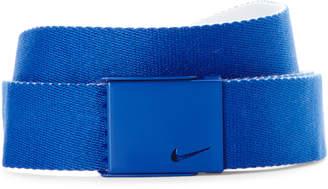 Nike Royal & White Single Web Reversible Belt