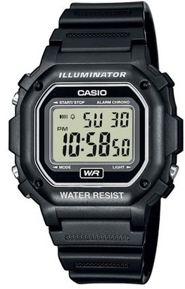 Casio Unisex Digital Watch, Black Resin Strap