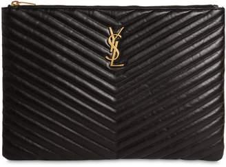 Saint Laurent Medium Quilted Leather Pouch