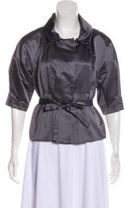 Robert Rodriguez Crop Satin Jacket