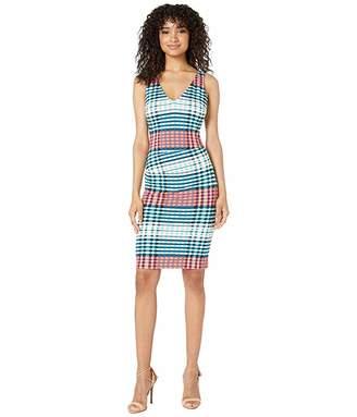Nicole Miller V-Neck Hip Tuck Dress