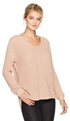 Michael Stars Women's Cotton Knit Long Sleeve V-Neck Pullover