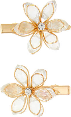 Monsoon 2x Jewel Wire Flower Hair Clips