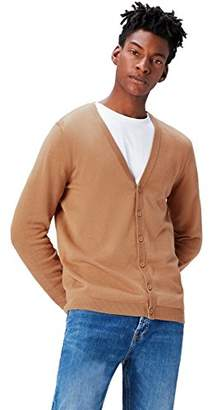 FIND Men's Cardigan in Cotton Button Down,X-Large