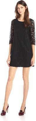 BB Dakota Women's Mckale Lace Shift Dress