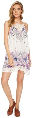 Free People Who's Sorry Now Printed Slip Dress Women's Dress