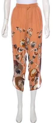 Gucci Printed Silk Pants w/ Tags