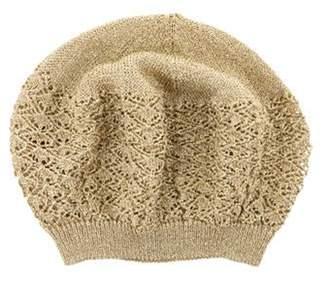 Missoni Woven Metallic-Knit Beanie Gold Woven Metallic-Knit Beanie