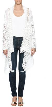 Johnny Was Swirl Crochet Cardigan $288 thestylecure.com