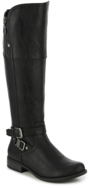 G by GUESS Heylow Wide Calf Riding Boot $99 thestylecure.com