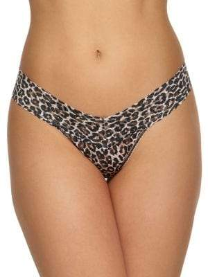Hanky Panky Signature Lace Classic Leopard Low-Rise Thong