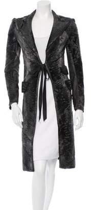 J. Mendel Broadtail Patchwork Coat