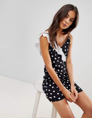 Oh My Love Cami Mini Dress With Frill Detail