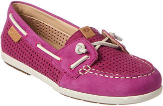 Sperry Women's Coil Ivy Perforated Leather Boat Shoe
