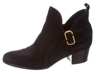 Marc Jacobs Suede Round-Toe Booties