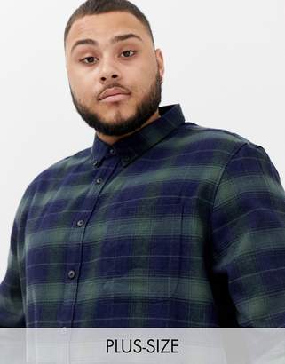Burton Menswear Big & Tall shirt in black check