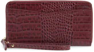 Nordstrom Croc Embossed Leather Continental Wallet