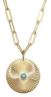 Jennifer Zeuner Jewelry Iris Turquoise Pendant Necklace