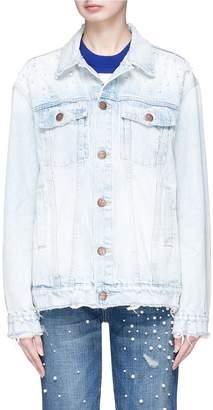 Current/Elliott 'The Boyfriend' faux pearl embellished denim jacket